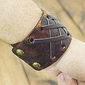 Hard bracelet handmade. Livemaster - original item Leather bracelet. Handmade.