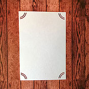 Материалы для творчества handmade. Livemaster - original item Substrate for a photo SCRAPMAN. Handmade.