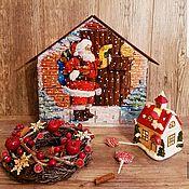 Адвент-календарь ручной работы. Ярмарка Мастеров - ручная работа Санта Клаус. Адвент календарь. Handmade.
