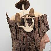 """Аксессуары ручной работы. Ярмарка Мастеров - ручная работа """"Пенёк"""" войлочная арт-шапка. Handmade."""