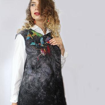 Clothing handmade. Livemaster - original item Vest felted Hummingbird. Handmade.