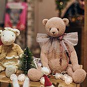 Мишки Тедди ручной работы. Ярмарка Мастеров - ручная работа Игрушка вязаная медведь тедди амигуруми. Handmade.