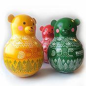 Русский стиль handmade. Livemaster - original item Tumbler with a jingle Teddy Bear big. Handmade.