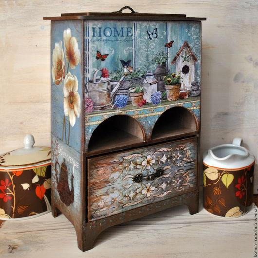 """Кухня ручной работы. Ярмарка Мастеров - ручная работа. Купить Чайный домик-буфет """"Садовый """". Handmade. Чайный домик"""