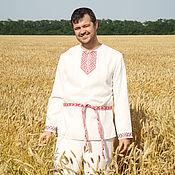 Русский стиль handmade. Livemaster - original item Slavic embroidered shirt