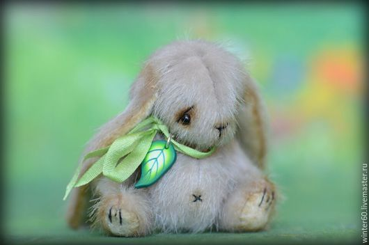 Мишки Тедди ручной работы. Ярмарка Мастеров - ручная работа. Купить Зайчишка. Handmade. Серый, вручную, пластика