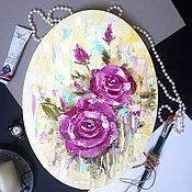 Картины и панно handmade. Livemaster - original item Oil painting Roses. Handmade.