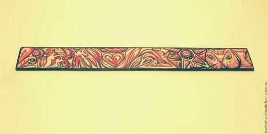 Письменные приборы ручной работы. Ярмарка Мастеров - ручная работа. Купить Линейка handmade. Handmade. Розовый, подарок, канцелярские товары