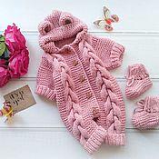 Комплекты одежды ручной работы. Ярмарка Мастеров - ручная работа Комбинезон Мишка, комбинезон на выписку, подарок для новорожденного. Handmade.