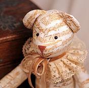 Куклы и игрушки ручной работы. Ярмарка Мастеров - ручная работа Тильда мишка винтажный музыкальный. Handmade.