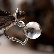 Украшения handmade. Livemaster - original item a ring of quartz. Handmade.