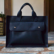 Сумки и аксессуары handmade. Livemaster - original item Women`s blue leather bag (briefcase). Handmade.
