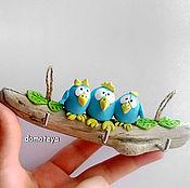 Для дома и интерьера ручной работы. Ярмарка Мастеров - ручная работа Ключница дрифтвуд Птицы счастья. Handmade.