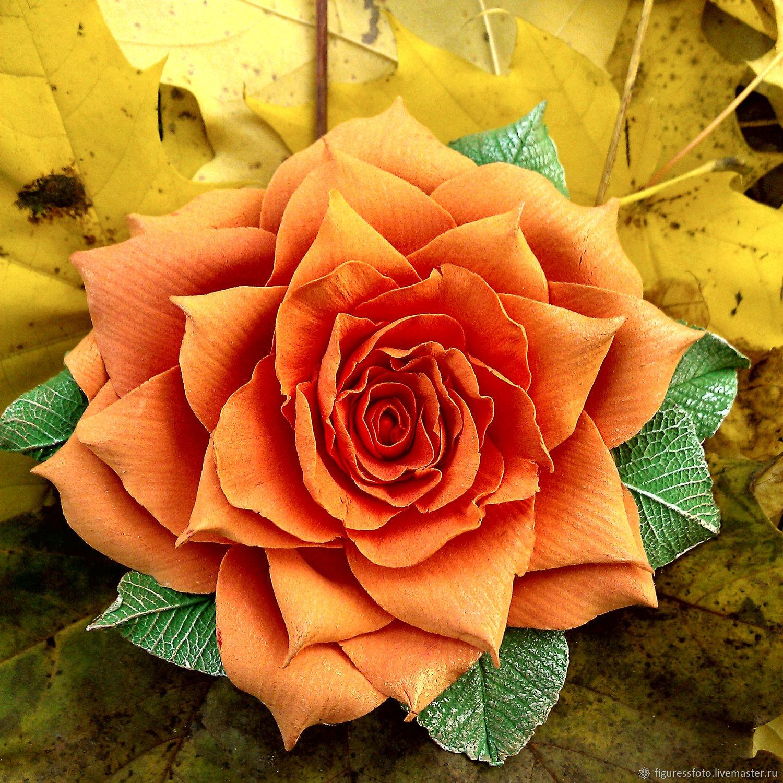 """Брошь""""Солнечная роза"""", любителям рыжего, брошка, Броши, Москва, Фото №1"""