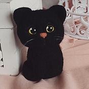 Куклы и игрушки handmade. Livemaster - original item Cat Blackie toy from wool. Handmade.