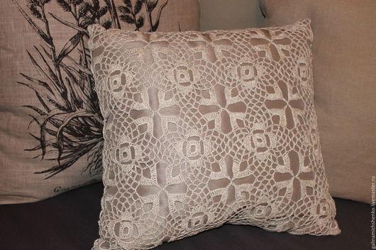 Текстиль, ковры ручной работы. Ярмарка Мастеров - ручная работа. Купить Декоративная подушка № 17. Handmade. Бежевый