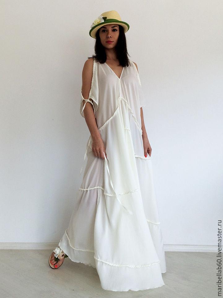 white maxi dress, wedding dress, beach dress, evening dress – shop ...