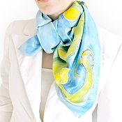 Аксессуары handmade. Livemaster - original item Scarf unisex silk natural