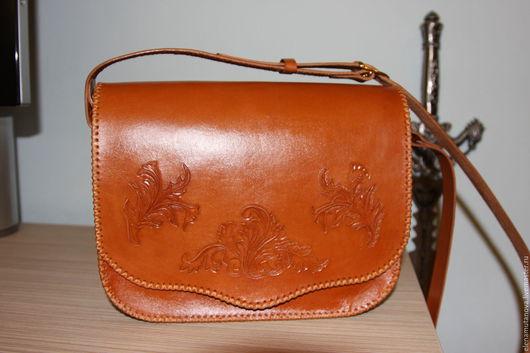 Женские сумки ручной работы. Ярмарка Мастеров - ручная работа. Купить Кожаная сумка. Handmade. Рыжий, авторская ручная работа