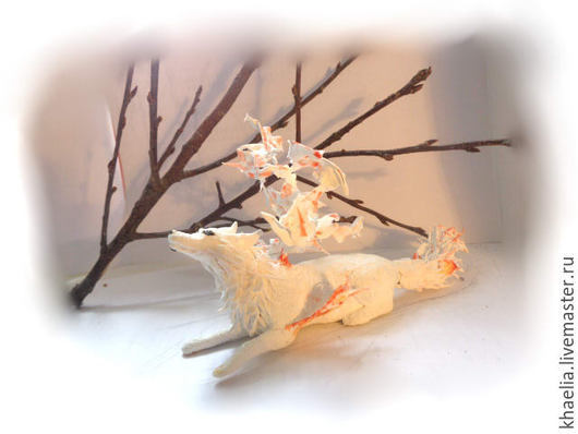 Игрушки животные, ручной работы. Ярмарка Мастеров - ручная работа. Купить Волчица Солнечная мечта (статуэтка волка, волк, фигурка). Handmade.