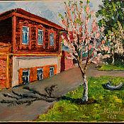 """Картины и панно ручной работы. Ярмарка Мастеров - ручная работа """"Весна в нашем городке"""". Handmade."""