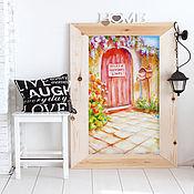 """Картины и панно ручной работы. Ярмарка Мастеров - ручная работа Картина """"Здесь живет счастье"""" масло, холст 30х50 см. Handmade."""