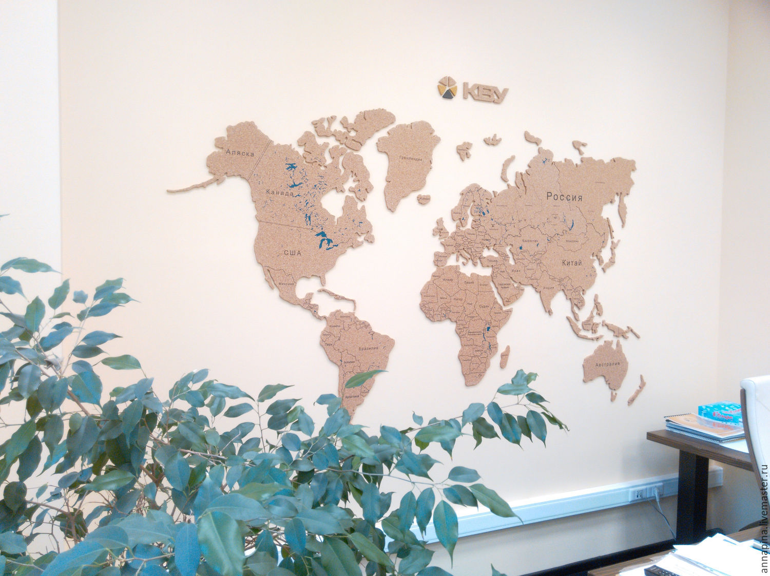 Coarkboard world map shop online on livemaster with shipping coarkboard world map anna pina design online shopping on my livemaster gumiabroncs Gallery