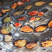 """Посуда ручной работы. Ярмарка Мастеров - ручная работа """"В осень"""" большая керамическая тарелка. Handmade."""