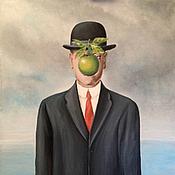 """Картины и панно ручной работы. Ярмарка Мастеров - ручная работа Рене Магритт """"Сын человеческий"""". Handmade."""
