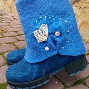Обувь ручной работы. Ярмарка Мастеров - ручная работа Валенки Морские. Handmade.