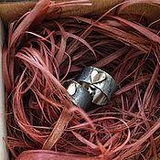 Украшения ручной работы. Ярмарка Мастеров - ручная работа HEARTS. Кольцо из серебра с золотом.. Handmade.