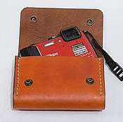 Сумки и аксессуары handmade. Livemaster - original item Leather case, purse on belt, handmade, camera. Handmade.
