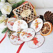handmade. Livemaster - original item Christmas set of hangers