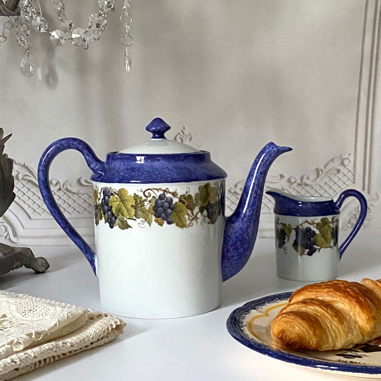 Винтаж: Чайник заварочный ВИНОГРАД. Франция, Чайники винтажные, Лаваль,  Фото №1