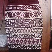 Одежда ручной работы. Ярмарка Мастеров - ручная работа Теплая жаккардовая юбка.. Handmade.