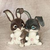 Куклы и игрушки ручной работы. Ярмарка Мастеров - ручная работа Влюбленные кролики. (кролик, зайчик). Handmade.