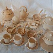 Материалы для творчества ручной работы. Ярмарка Мастеров - ручная работа Наборчик посудки 24 предмета. Handmade.