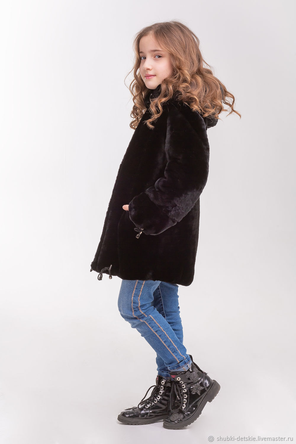 b6e2d76c9138 Buy Children's fur jacket made of Mouton · Clothes for Girls handmade. Children's  fur jacket made of Mouton. Kids fur coat.