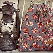 Сумки и аксессуары ручной работы. Ярмарка Мастеров - ручная работа СоВа сумка на фермуАре бордо сангрия розовый бронза сова серый купить. Handmade.