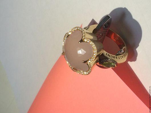 Кольца ручной работы. Ярмарка Мастеров - ручная работа. Купить Женское кольцо Pasquale Bruni с бриллиантами и розовым опалом. Handmade.