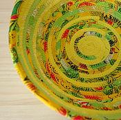 Для дома и интерьера ручной работы. Ярмарка Мастеров - ручная работа Текстильная корзинка. Handmade.