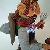 """Сувениры и подарки handmade. Livemaster - original item """"Повар / Официант / Бармен""""- декоративная фигура в интерьер. Handmade."""