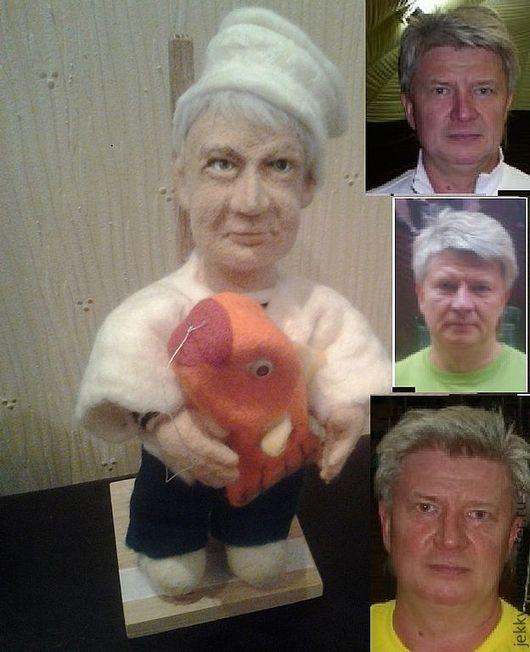 Портретные куклы ручной работы. Ярмарка Мастеров - ручная работа. Купить Портретная кукла на заказ по фото - Повар, корабельный кок. Handmade.