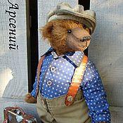 Куклы и игрушки ручной работы. Ярмарка Мастеров - ручная работа Когда зовут дороги...Винтажный мишка-тедди. Handmade.
