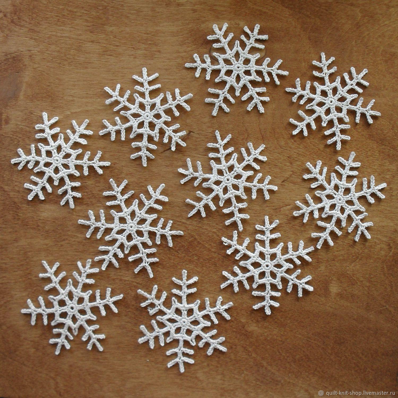 Набор белых снежинок - 5, Салфетки, Красноярск,  Фото №1