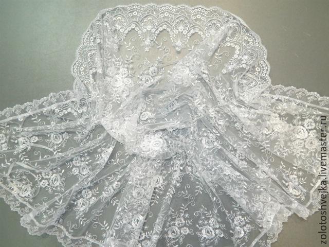Женская накидка-палантин для храма «Розы Венеции», Капюшоны, Москва, Фото №1