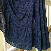 Одежда handmade. Livemaster - original item Tiered skirt made of viscose staple turquoise and gray-lilac Paisley. Handmade.