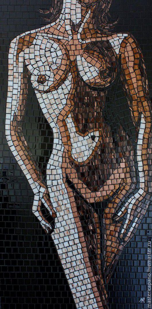 Люди, ручной работы. Ярмарка Мастеров - ручная работа. Купить девушка 2. Handmade. Комбинированный, подарок, картина, стекло, мозаика
