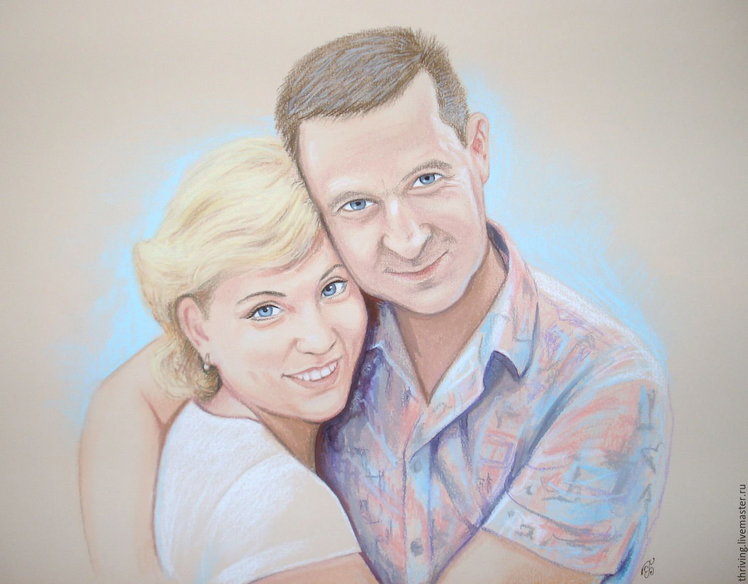 Painting a portrait from a photo custom pastel anniversary gift wedding, Pictures, Samara,  Фото №1