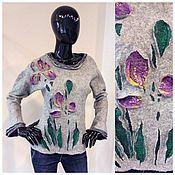 """Одежда ручной работы. Ярмарка Мастеров - ручная работа Свитер """"Ирисы"""". Handmade."""